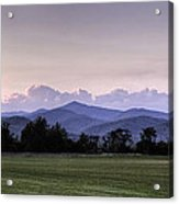 Mountain Sunset - North Carolina Landscape Acrylic Print
