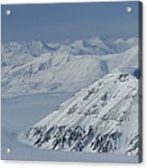 Mountains And Glaciers Near Ny Alesund Acrylic Print