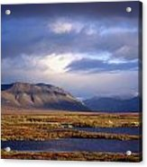 Mountains And Lakes, Dempster Highway Acrylic Print