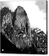 Mountains Of Yosemite . 7d6167 . Black And White Acrylic Print by Wingsdomain Art and Photography