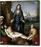 Mourning Over Dead Christ Acrylic Print