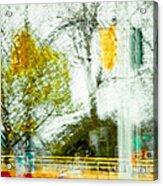 Movement On Denman Street Acrylic Print
