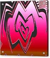 Moveonart Abstractheart Acrylic Print