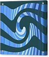 Moveonart Coolbluewave Acrylic Print