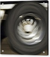 Moving Wheels Acrylic Print by Miguel Capelo