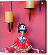 Ms. Day Of The Dead Acrylic Print