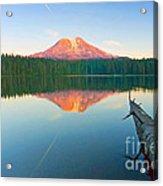 Mt. Adams Alpenglow Acrylic Print
