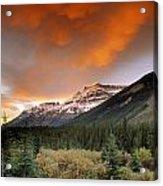Mt. Amery And Dramatic Clouds, Banff Acrylic Print