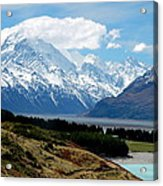 Mt Cook Across Lake Pukaki Acrylic Print