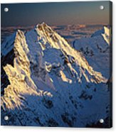 Mt Cook Or Aoraki And Mt Tasman, Aerial Acrylic Print