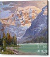 Mt Edith Cavell Jasper Acrylic Print