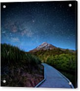Mt. Ekmond At Night With Starlight Acrylic Print