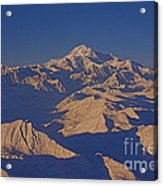 Mt. Mckinley Sunset From Above Acrylic Print