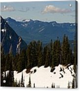 Mt Rainier In June Acrylic Print