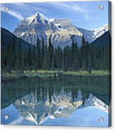 Mt Robson Highest Peak In The Canadian Acrylic Print by Tim Fitzharris