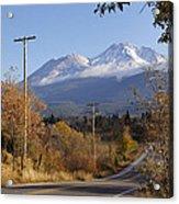 Mt Shasta Autumn Acrylic Print