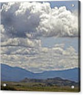 Mt Shasta On A Showery Spring Day Acrylic Print