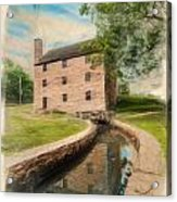Mt. Vernon Gristmill Art Acrylic Print by Jim Moore