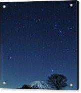 Mt.fuji In Winter Acrylic Print by Takeshi.K