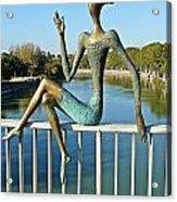 Mtkvari River Figure Acrylic Print
