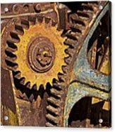 Mud Caked Gears Acrylic Print