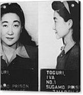 Mugshot Of Iva Toguri 1906-2006 Acrylic Print