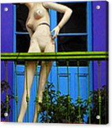 Mujer En Balcon Acrylic Print