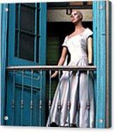 Mujer En Ventana Acrylic Print