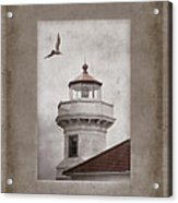 Mukilteo Light Washington Acrylic Print by Carol Leigh