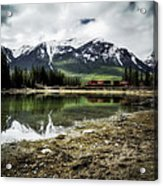Muleshoe Pond Train Acrylic Print