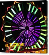 Multi Colored Ferris Wheel Acrylic Print