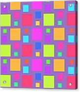 Multicoloured Squares Acrylic Print by Louisa Knight