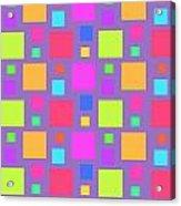 Multicoloured Squares Acrylic Print