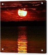 Multiline Sunset Acrylic Print