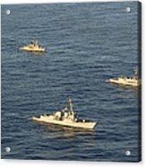 Multinational Navy Ships Move Acrylic Print