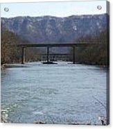 Multiple Bridges Crossing The Holston River Acrylic Print