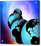 Multiple Dimensions, Conceptual Artwork Acrylic Print by Victor Habbick Visions