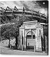 Murrayfield Stadium With War Memorial Arch Edinburgh Scotland Acrylic Print