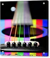 Music Is A Rainbow To The Heart Acrylic Print by Andee Design