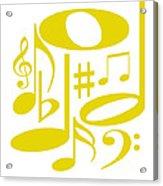 Musical Yellow Acrylic Print