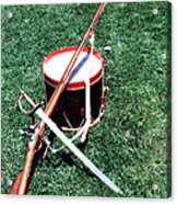 Musket Sword And Drum Acrylic Print