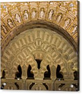 Muslim Arch With Christian Reliefs In Mezquita Acrylic Print