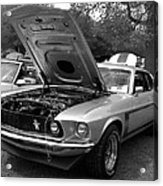 Mustang Chrome Acrylic Print
