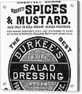 Mustard Ad, 1889 Acrylic Print
