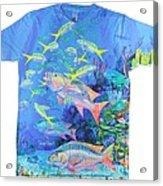 Mutton Snapper Mens Shirt Acrylic Print