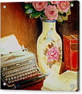 My Classic Royal Typewriter Memories Of Hemingway   Acrylic Print