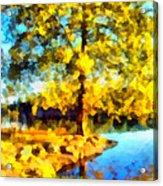 My Golden Impression Acrylic Print
