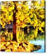 My Golden Tree Acrylic Print