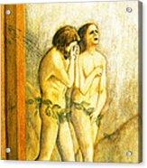 My Masaccio Expulsion Of Adam And Eve Acrylic Print