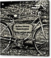 My Other Bike Is A Harley Davidson In Sepia Acrylic Print